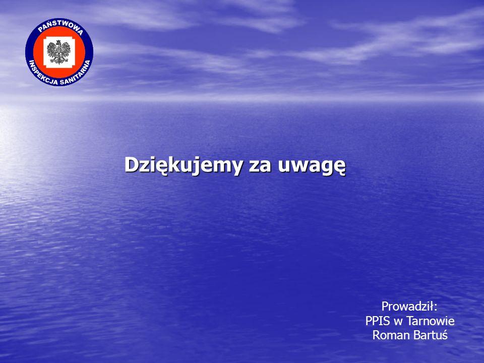 Dziękujemy za uwagę Prowadził: PPIS w Tarnowie Roman Bartuś