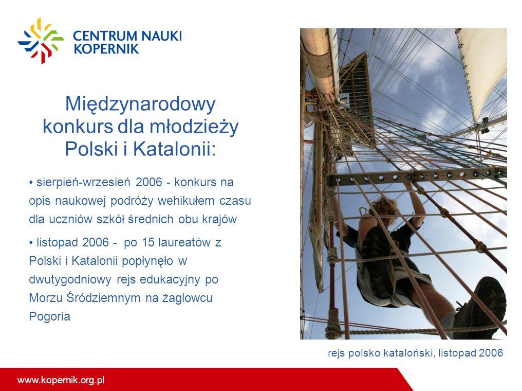www.kopernik.org.pl Międzynarodowy konkurs dla młodzieży Polski i Katalonii: sierpień-wrzesień 2006 - konkurs na opis naukowej podróży wehikułem czasu