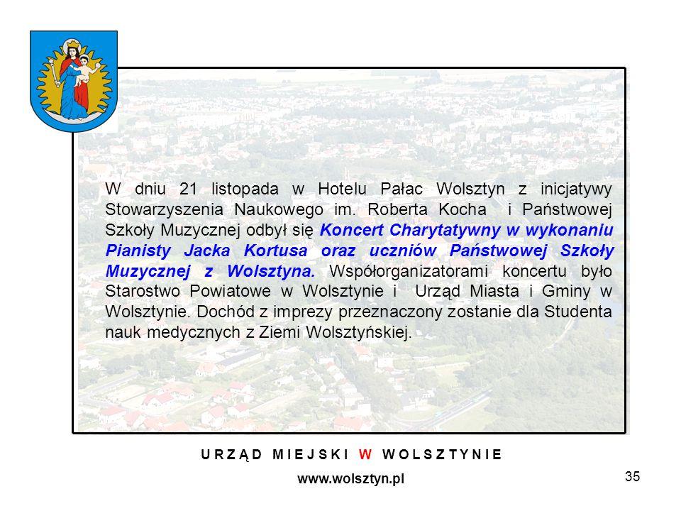 35 U R Z Ą D M I E J S K I W W O L S Z T Y N I E www.wolsztyn.pl W dniu 21 listopada w Hotelu Pałac Wolsztyn z inicjatywy Stowarzyszenia Naukowego im.