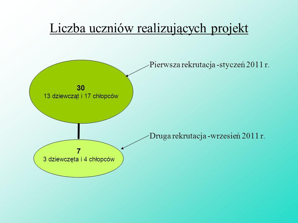 Działania Liczba god zin Liczba uczestników 2011/20122010/2011 Dz.Chł.Dz.Chł.