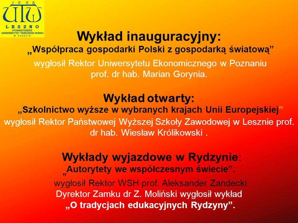Wykład inauguracyjny: Współpraca gospodarki Polski z gospodarką światową wygłosił Rektor Uniwersytetu Ekonomicznego w Poznaniu prof. dr hab. Marian Go