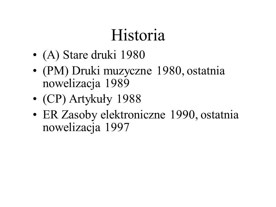 Historia Ciąg dalszy ISBD dla wydawnictw ciągłych – CR - 2002