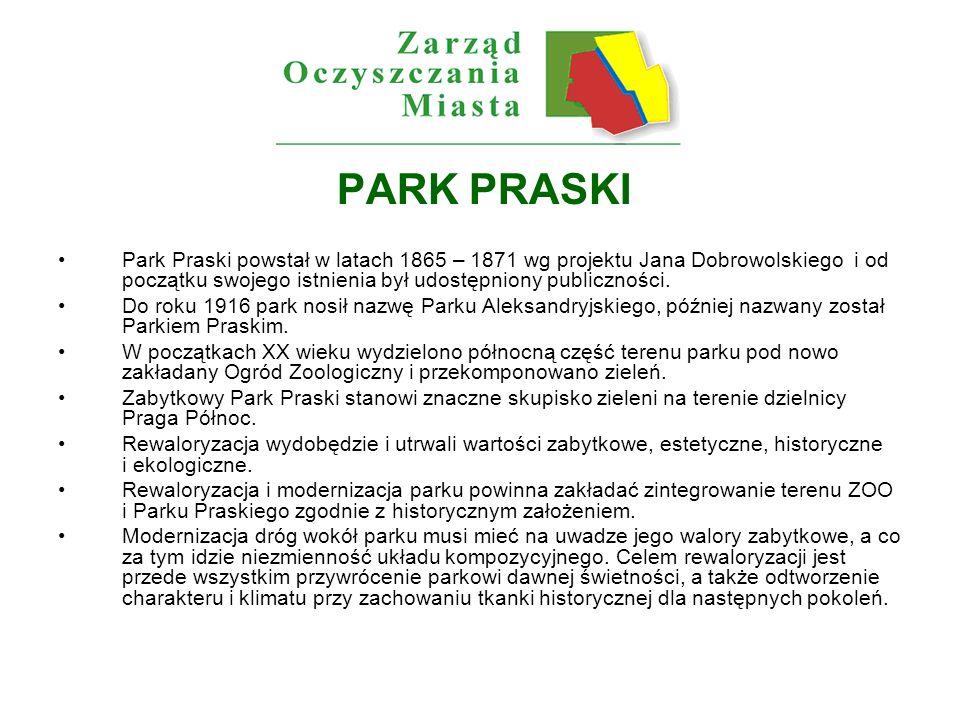 Park Praski obecnie