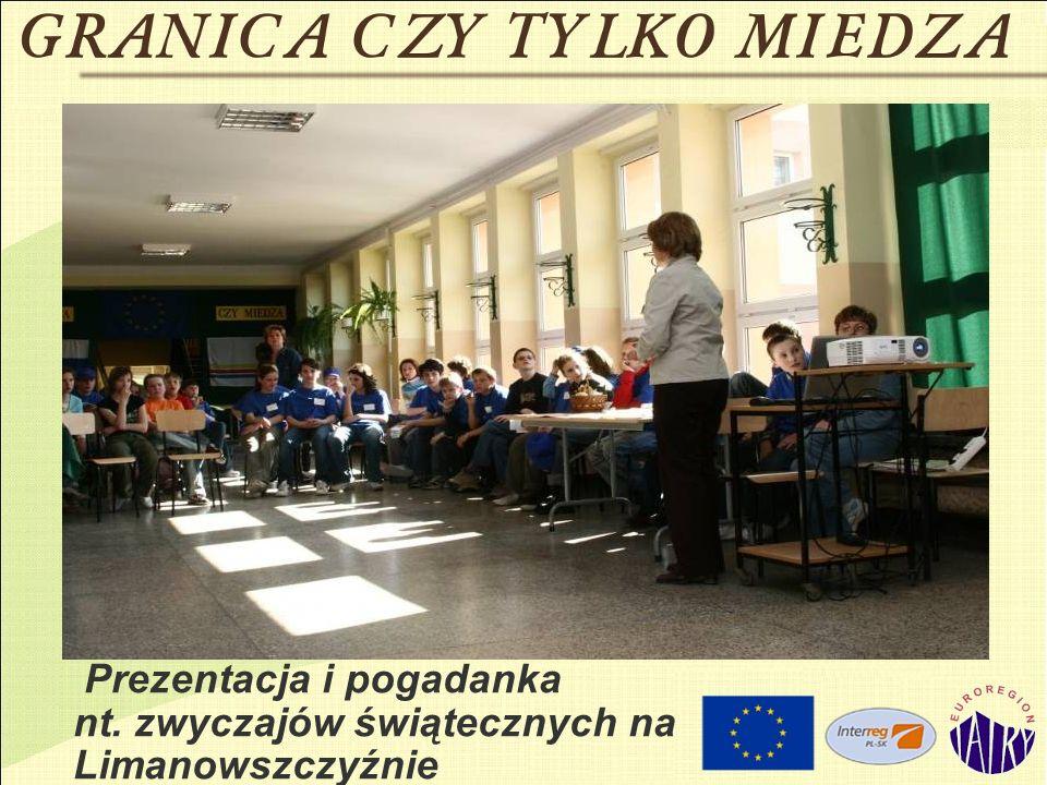 Prezentacja i pogadanka nt. zwyczajów świątecznych na Limanowszczyźnie