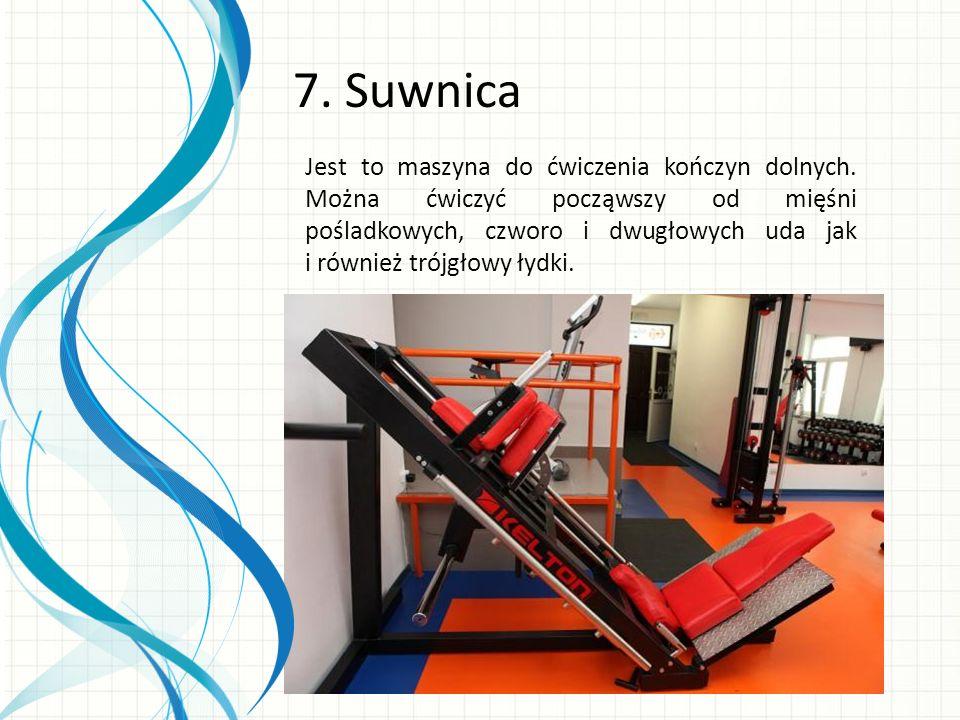 Jest to maszyna do ćwiczenia kończyn dolnych.