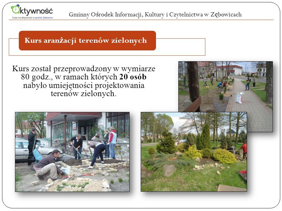 W ramach projektu Czas na aktywność w gminie Zębowice kursy ukończyło 76 osób z wynikiem pozytywnym.