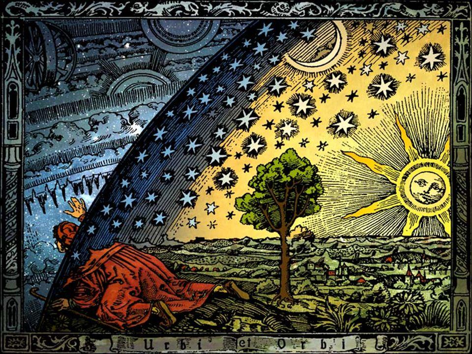 Struktura średniowiecznego Wszechświata Wszechświat - hierarchiczny i przestrzennie skończony: Raj – w którym przebywał Bóg, znajdował się poza tzw.