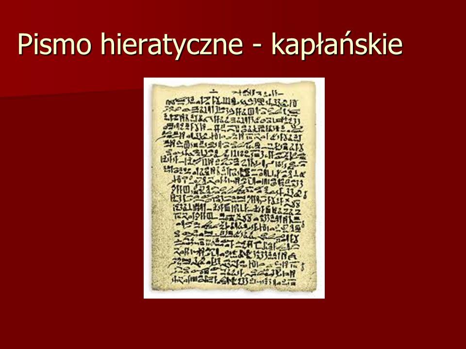 Pismo hieratyczne - kapłańskie