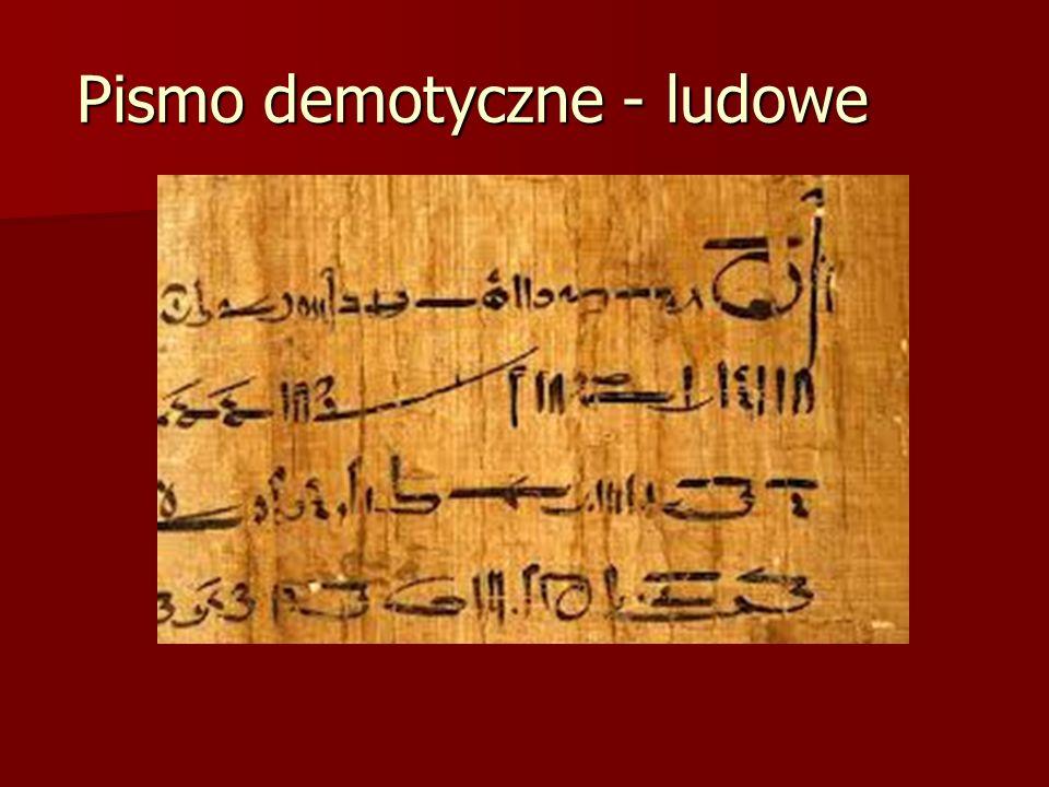 Pismo demotyczne - ludowe