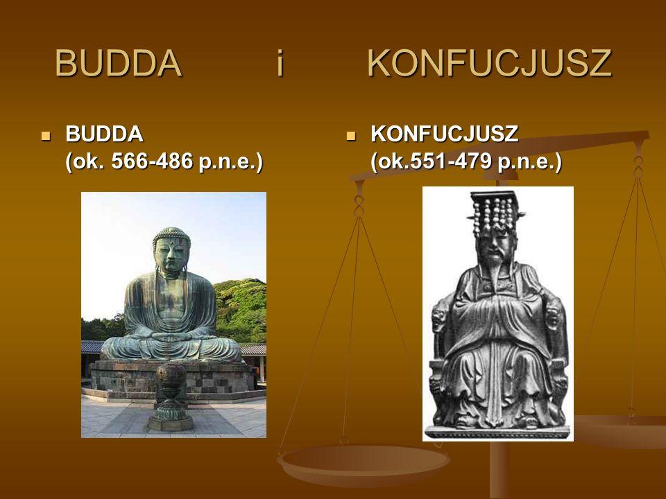 BUDDA i KONFUCJUSZ BUDDA (ok. 566-486 p.n.e.) BUDDA (ok. 566-486 p.n.e.) KONFUCJUSZ (ok.551-479 p.n.e.)