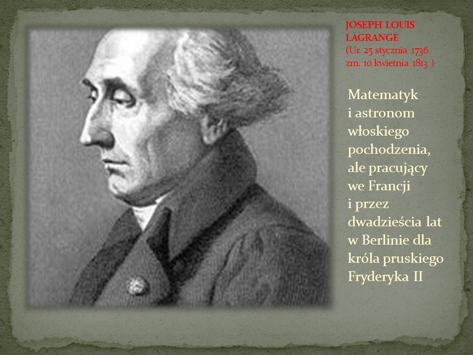 Matematyk i astronom włoskiego pochodzenia, ale pracujący we Francji i przez dwadzieścia lat w Berlinie dla króla pruskiego Fryderyka II