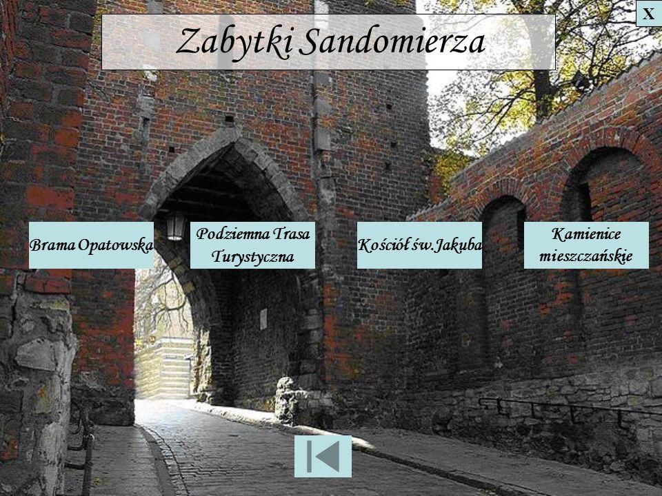 Brama Opatowska Jedyna ocalała brama, umożliwiająca wjazd do miasta od strony Opatowa.