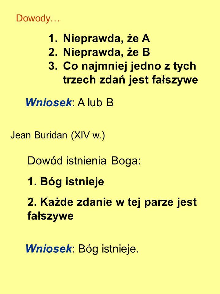Z 1 : Dla każdego k>1, zdanie Z k jest fałszywe Z 2 : Dla każdego k>2, zdanie Z k jest fałszywe... Z n : Dla każdego k>n, zdanie Z k jest fałszywe...