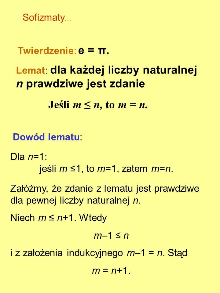 Twierdzenie Gödla o niezupełności (II): Jeśli dostatecznie bogata teoria jest niesprzeczna, to jej niesprzeczności nie można w niej udowodnić. Jeśli A