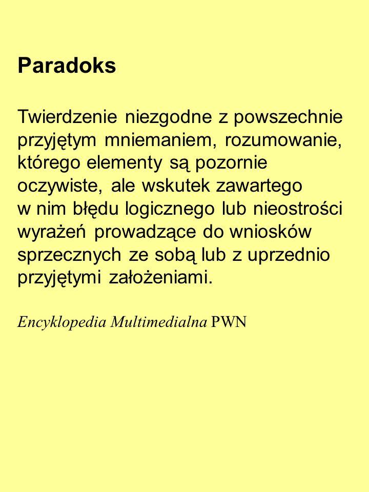 Paradoksy logiczne i inne 4 marca 2010