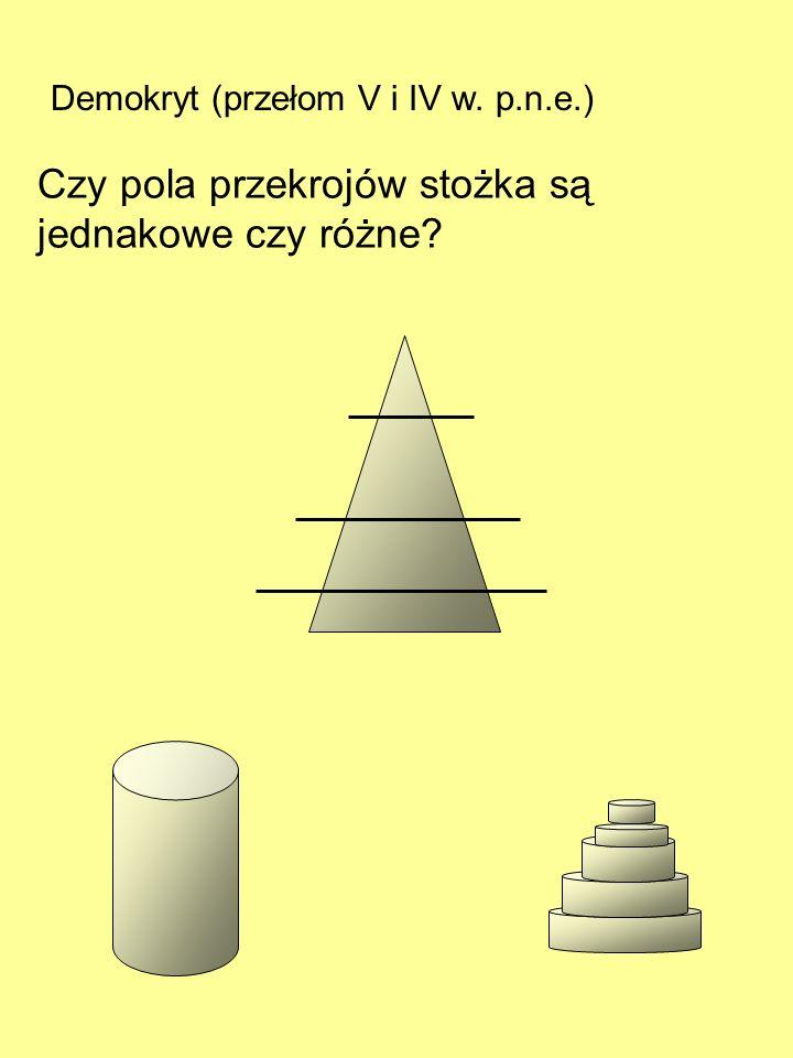 Zenon z Elei (460 - 370 p.n.e.) Paradoks strzały: W każdym punkcie drogi strzała jest nieruchoma, nie może więc tej drogi pokonać i dotrzeć do celu. C