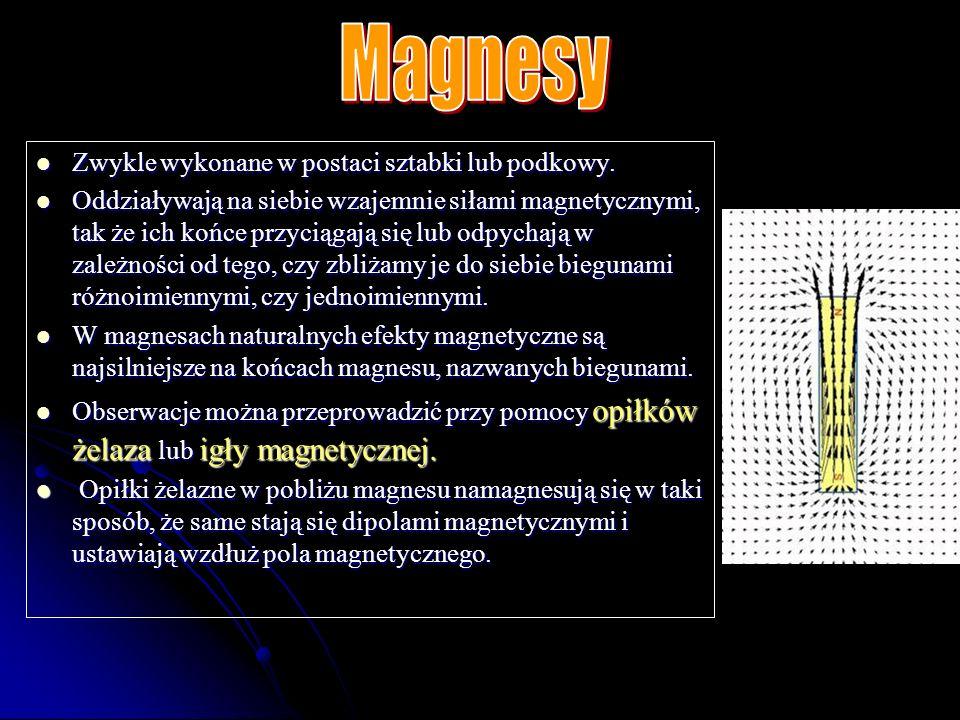 Przestrzeń wokół magnesów, w której działają siły magnetyczne.