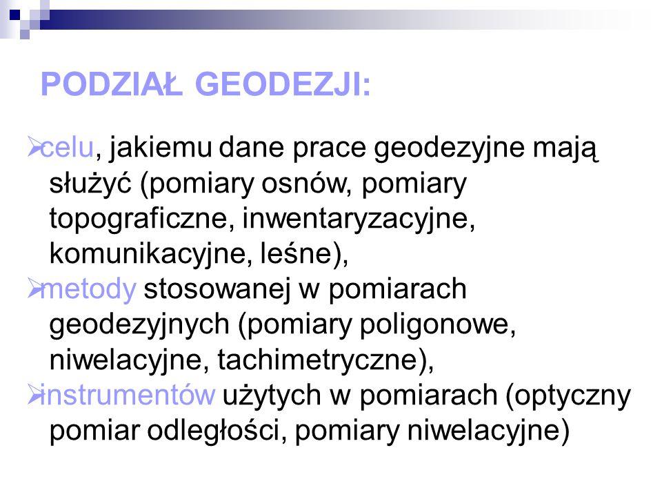 HISTORIA GEODEZJI W POLSCE Po rozbiorach Polski ówcześni geodeci wcielani byli do urzędów 3 zaborczych państw, które prowadziły pomiar ziemi na własne potrzeby według różnych reguł.
