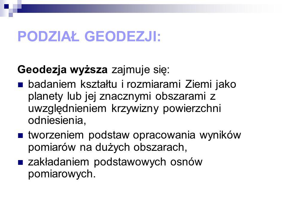 HISTORIA GEODEZJI W POLSCE Obecnie sprawami geodezji zajmuje się Główny Urząd Geodezji i Kartografii mający swoją siedzibę w Warszawie przy ul.