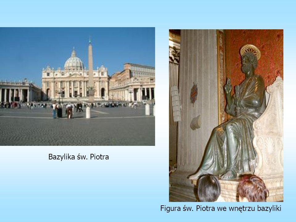 Bazylika św. Piotra Figura św. Piotra we wnętrzu bazyliki