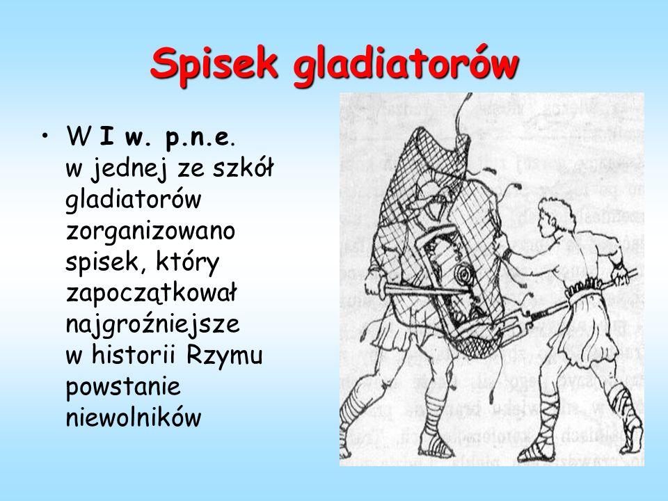 Spisek gladiatorów W I w. p.n.e.