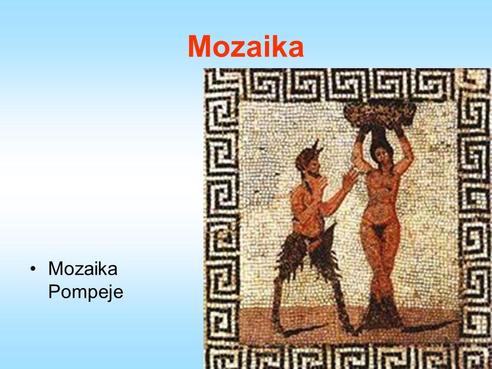 Mozaika Mozaika Pompeje