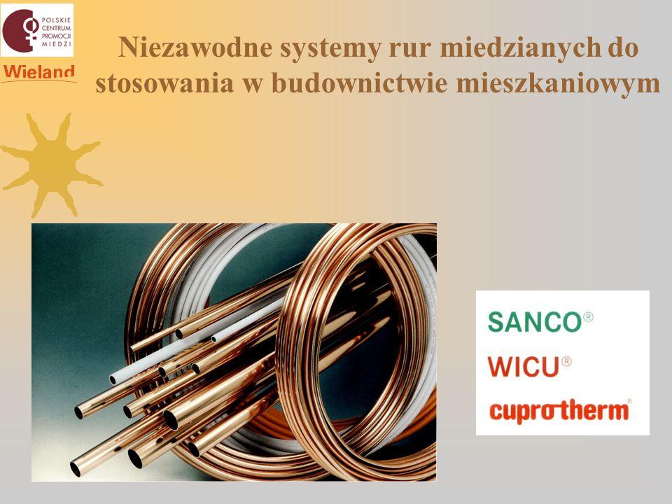 EnEv COPATIN ® System Niezawodne systemy rur miedzianych do stosowania w budownictwie