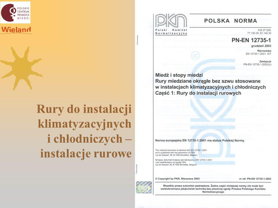 Rury do instalacji klimatyzacyjnych i chłodniczych – oprzyrządowanie