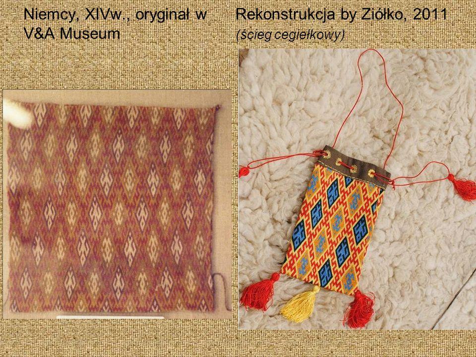 Niemcy, XIVw., oryginał w V&A Museum Rekonstrukcja by Ziółko, 2011 (ścieg cegiełkowy)