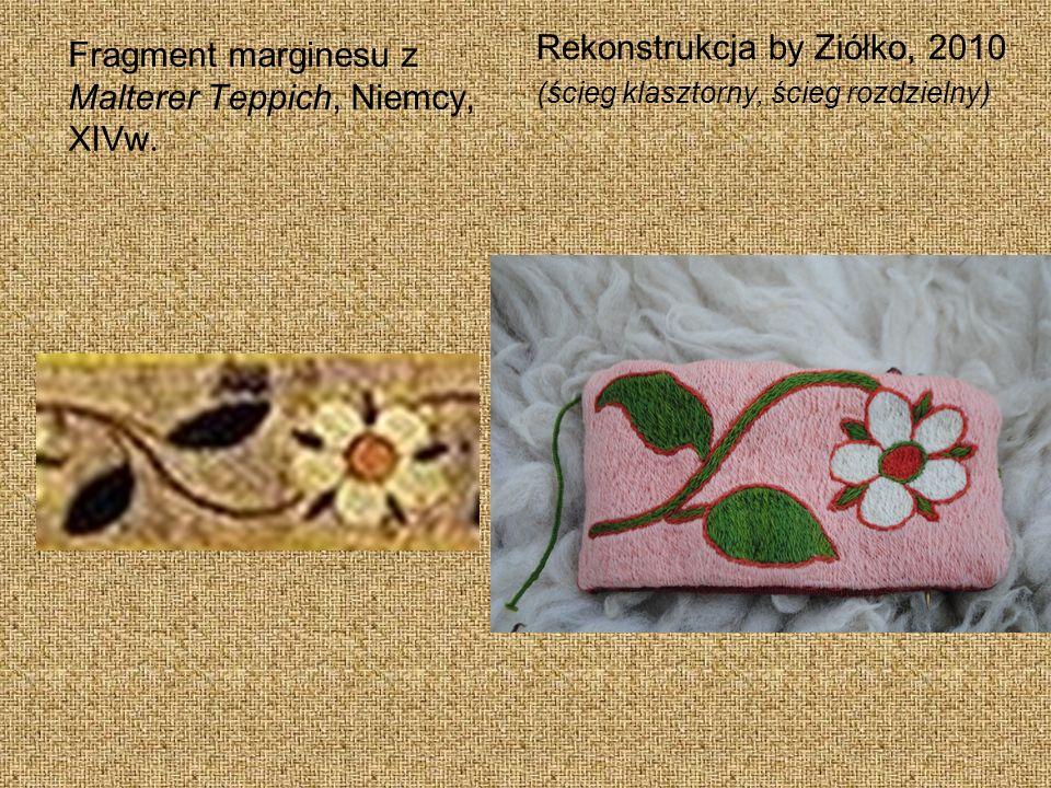 Fragment marginesu z Malterer Teppich, Niemcy, XIVw.
