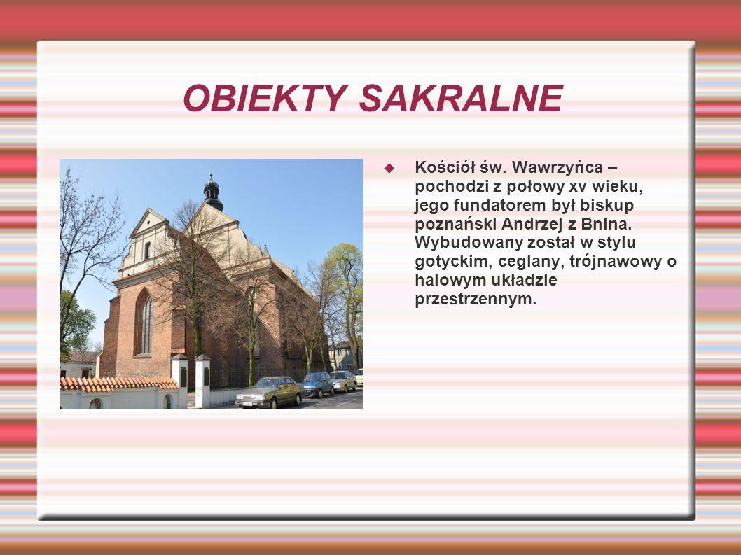 OBIEKTY SAKRALNE Kościół św.