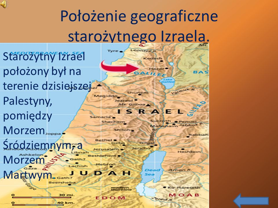 Położenie geograficzne starożytnego Izraela.