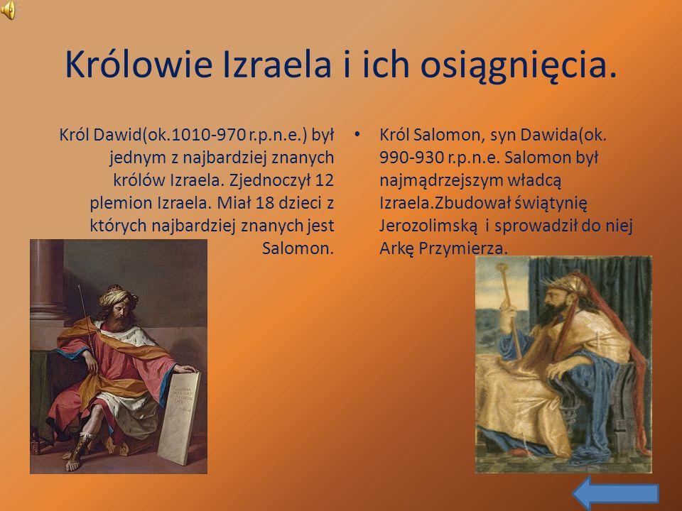 Królowie Izraela i ich osiągnięcia.