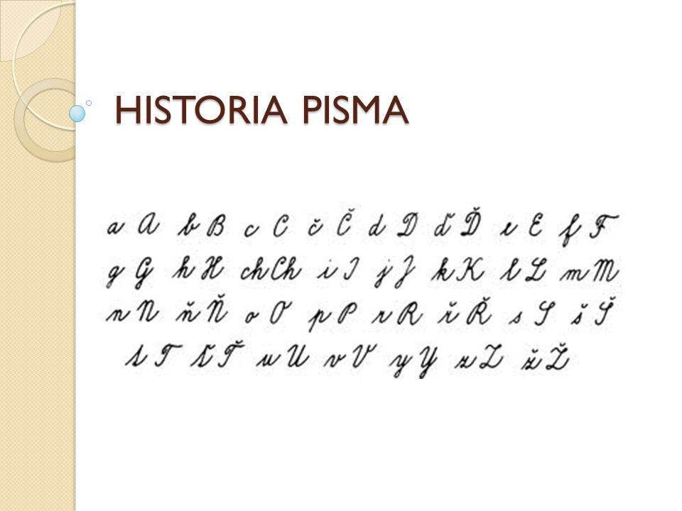 WPROWADZENIE Powstanie pisma datowane jest na ok.4000 lat p.n.e.