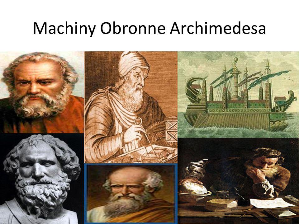 Kilka słów o Archimedesie Archimedes należy do tych nielicznych geniuszy, których twórczość przesądziła na długo wieki o losach nauki a tym samym o losach ludzi.