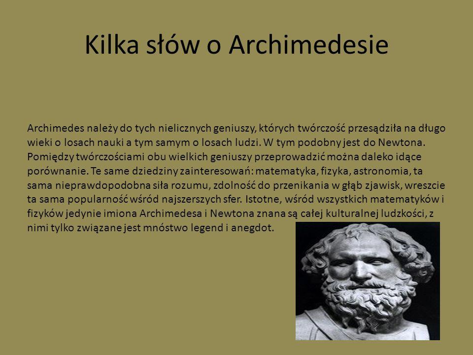 Jedna z wielu maszyn Archimedesa Przypisuje mu się wynalezienie wielokrążka, dźwigu do podnoszenia i wywracania do góry dnem rzymskich statków.