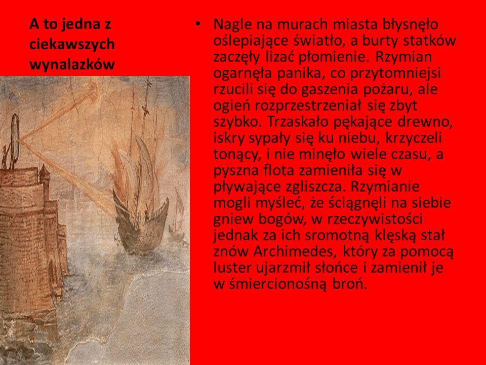 Czary Mary czyli katapulta Machinę wyrzucającą strzały lub kamienne kule stromotorowo przez sztywne ramiona, których końce tkwiły w sprężystych powrozach splecionych z włosia końskiego wynaleziono na terenach obecnej Syrii około 500 roku p.