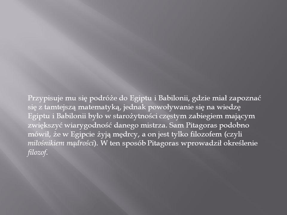 Założył w Krotonie szkołę pitagorejczyków w roku 529 p.n.e., drugą po założonej wcześniej na Samos.