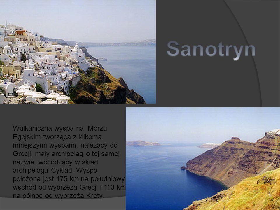 Wulkaniczna wyspa na Morzu Egejskim tworząca z kilkoma mniejszymi wyspami, należący do Grecji, mały archipelag o tej samej nazwie, wchodzący w skład a