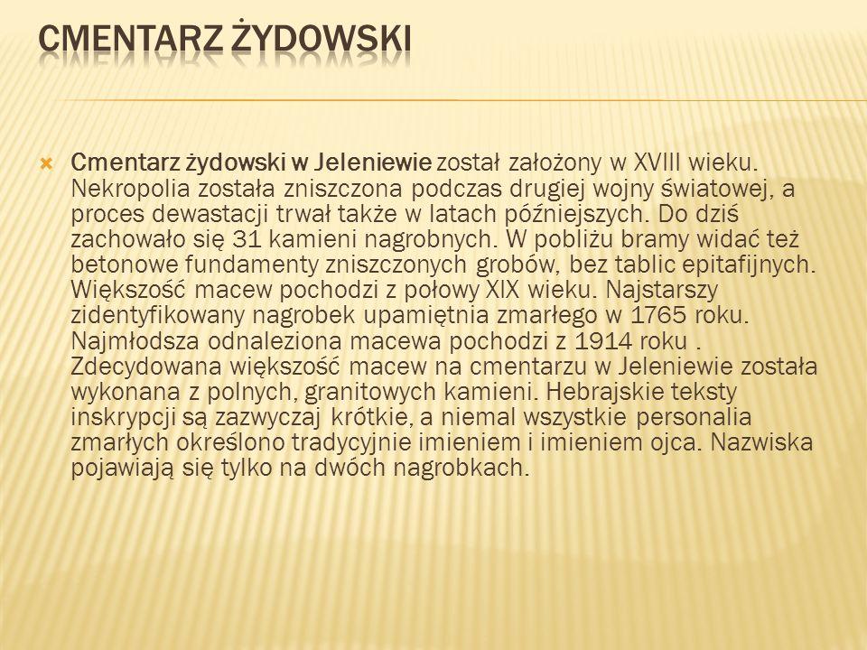 Cmentarz żydowski w Jeleniewie został założony w XVIII wieku. Nekropolia została zniszczona podczas drugiej wojny światowej, a proces dewastacji trwał