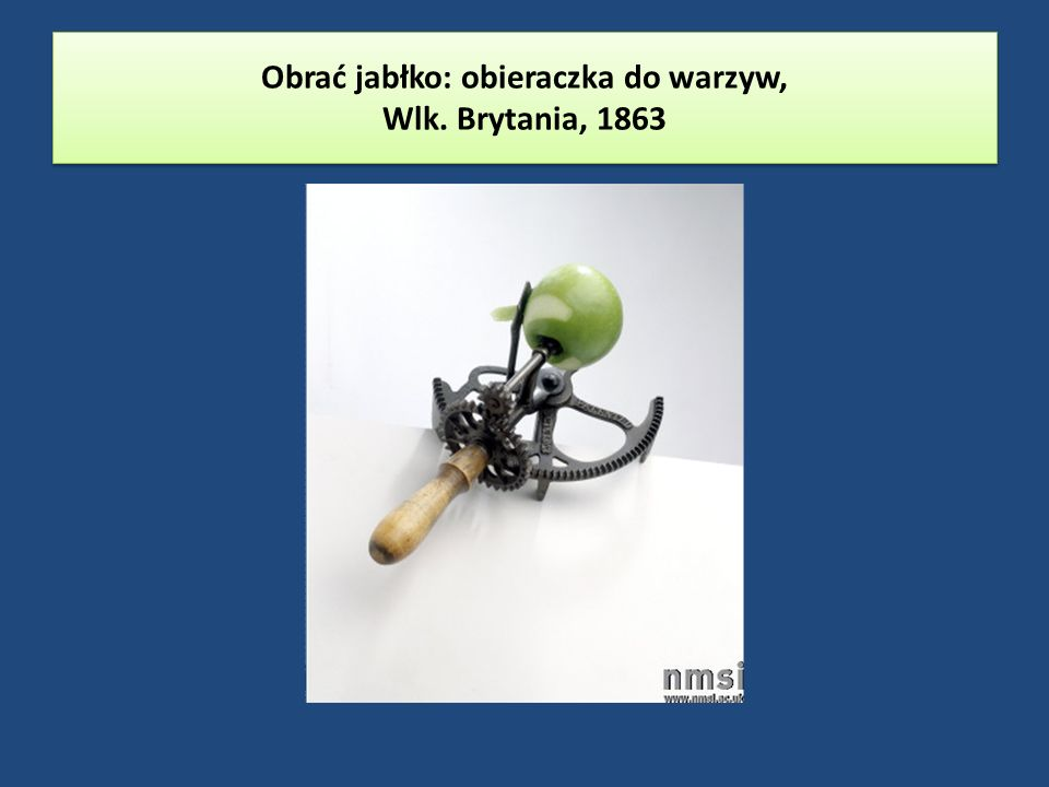 Obrać jabłko: obieraczka do warzyw, Wlk. Brytania, 1863