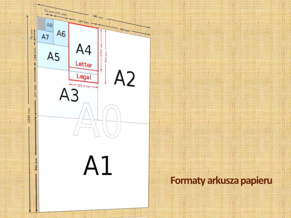 Formaty arkusza papieru