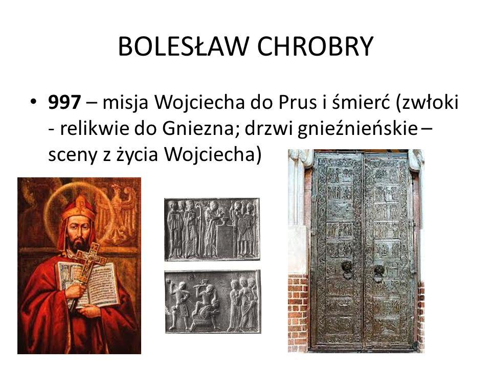 KONIEC ROZBICIA DZIELNICOWEGO 1295 – koniec rozbicia dzielnicowego: zjednoczenie Wielkopolski i Pomorza Gdańskiego: koronacja Przemysła II w Gnieźnie