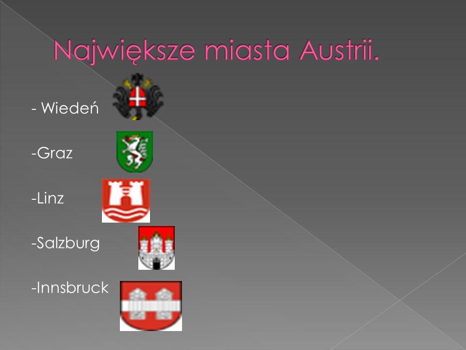 - Wiedeń -Graz -Linz -Salzburg -Innsbruck