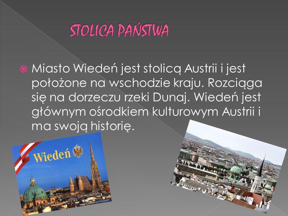 Miasto Wiedeń jest stolicą Austrii i jest położone na wschodzie kraju. Rozciąga się na dorzeczu rzeki Dunaj. Wiedeń jest głównym ośrodkiem kulturowym