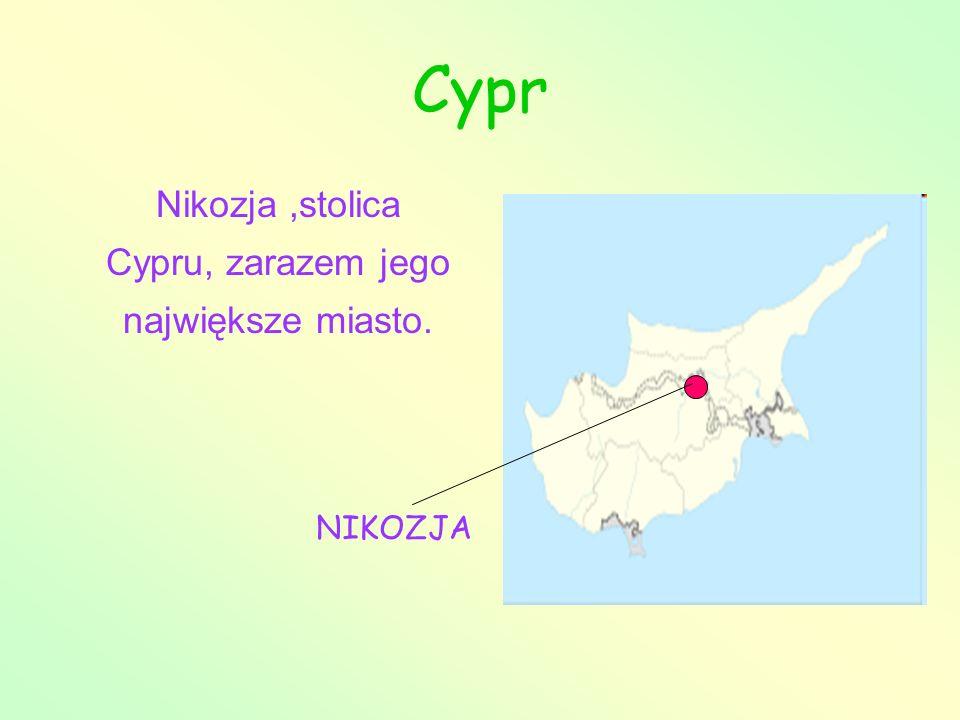 Nikozja,stolica Cypru, zarazem jego największe miasto. NIKOZJA