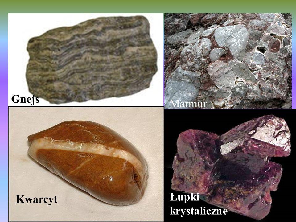 Gnejs Marmur Kwarcyt Łupki krystaliczne