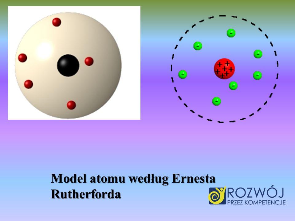 Model atomu według Ernesta Rutherforda