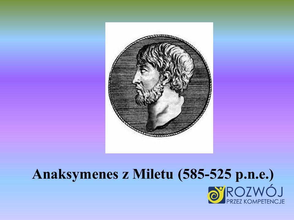 Był kontynuatorem myśli Anaksymandera z Miletu.