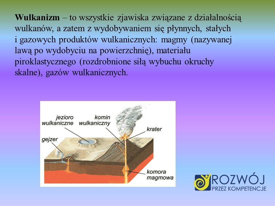 Wulkanizm – to wszystkie zjawiska związane z działalnością wulkanów, a zatem z wydobywaniem się płynnych, stałych i gazowych produktów wulkanicznych: